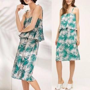 Anthropologie HD In Paris Palm Tiered Dress